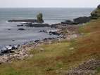 Rocky shoreline on the North Antrim Coast