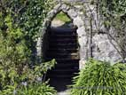 Stone arch and steps in Annesley Garden