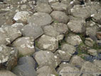 Giant's Causeway basalt columns close up