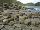 Rock formations at the Giant's Causeway World Heritage Site