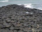 Giant's Causeway basalt columns disappearing into the sea