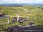 Style and road from Slieve Croob summit