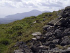 Summit view from Slieve Croob towards the Mourne Mountains