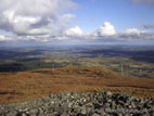 Summit view from Slieve Croob with cairn