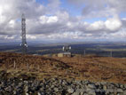 Summit view from Slieve Croob with transmitter masts