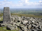 Summit view from Slieve Croob with trig point