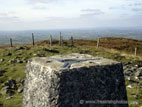 Trig point on Slieve Croob summit