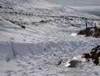 Heavy snow on Slieve Croob road