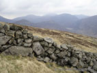 View in the Mourne Mountains, with stone wall