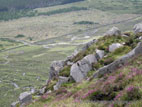 View to Trassey Track from Slieve Meelmore in the Mournes
