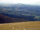 View from the summit of Slieve Donard in the Mourne Mountains