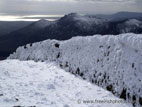 Mourne Wall on Slieve Donard, covered in snow