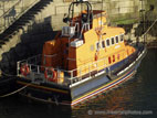 Donaghadee lifeboat in harbour