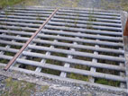 Large metal cattle grid